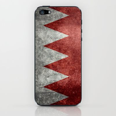 The flag of the Kingdom of Bahrain - Authentic version iPhone & iPod Skin