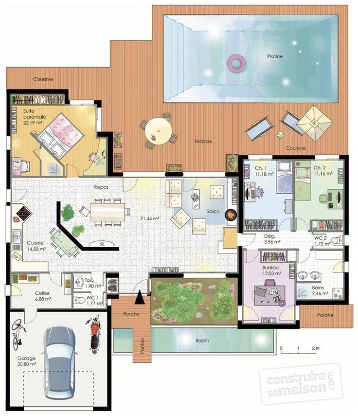 Maison fonctionnelle - Détail du plan de Maison fonctionnelle | Faire construire sa maison