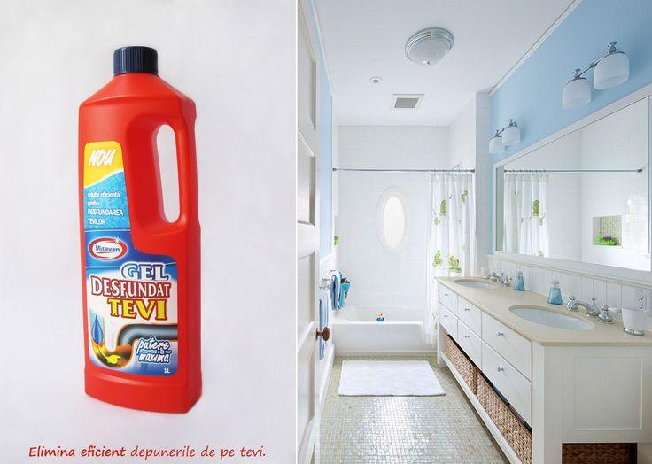 Gelul elimina in mod rapid si eficient depunerile de materii organice din scurgerile chiuvetelor, cazilor sau a vasului de toaleta: http://www.produse-de-curatenie.ro/produse-chimice-profesionale-de-curatenie/tevi/misavan-gel-desfundat-tevi-1l #curatenie #tevi #misavan