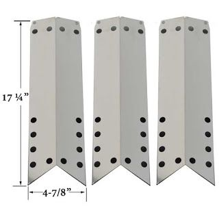 Grillpartszone- Grill Parts Store Canada - Get BBQ Parts, Grill Parts Canada: Duro Heat Shield | Replacement 3 Pack Stainless St...