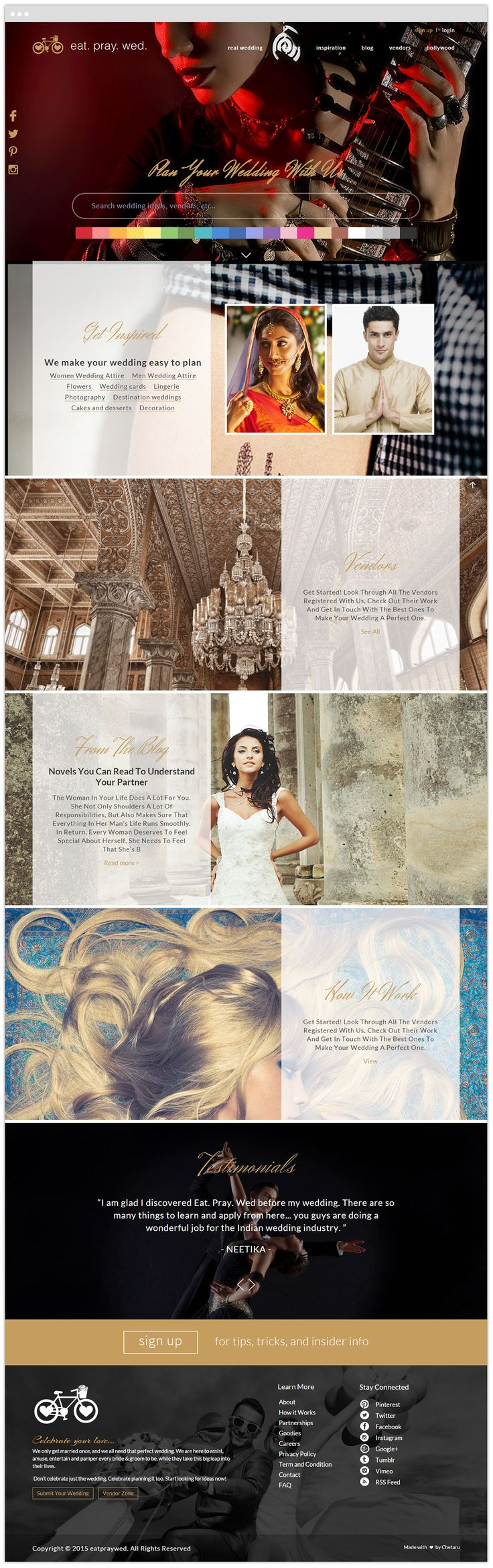 Eat Pray Wed presents the unique Wedding Ideas through which you can make your wedding exciting and memorable.   #Responsive #WeddingWebsite #Html5