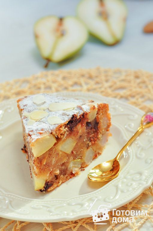 Медовый кекс с грушами (постный) фото к рецепту 10