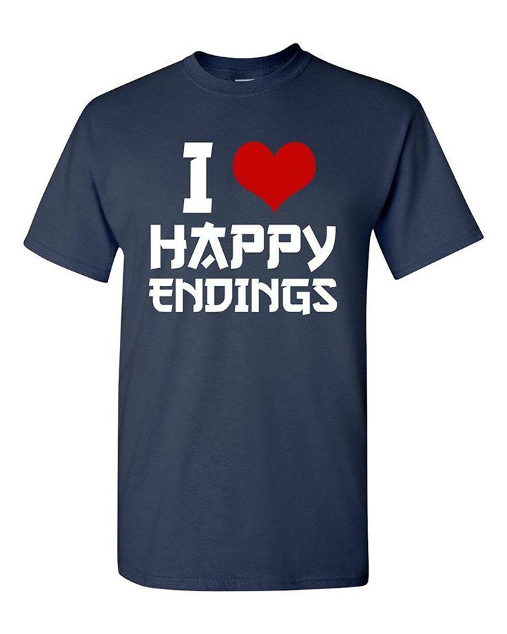 >> Click to Buy << Gildan I Love Happy Endings Funny Massage Therapist Humor T-Shirt Tee #Affiliate