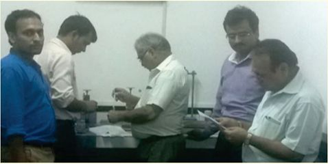 A Staff Development Programme was organized by the Department on 25 June 2016 where two lab engineers, Mr Rajpal and Mr Sohan Lal along with a faculty member Mr Shubham Bansal got hands-on training for cement, aggregate and hardened concrete testing. The training was conducted by Mr Lalit Kumar Vermani, Deputy Manager (Retd) NCB Ballabgarh and Mr SC Huria, Ex–GM, NCBM. The speakers gave suggestions to digitalize the testing machines in order to improve existing laboratory facilities.
