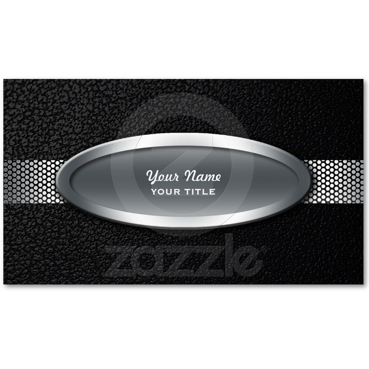 29 best silver metal productzazzle images on pinterest silver leather metallic look business cards from zazzle reheart Gallery