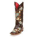 Macie Bean Brown Floral Cowgirl Boots