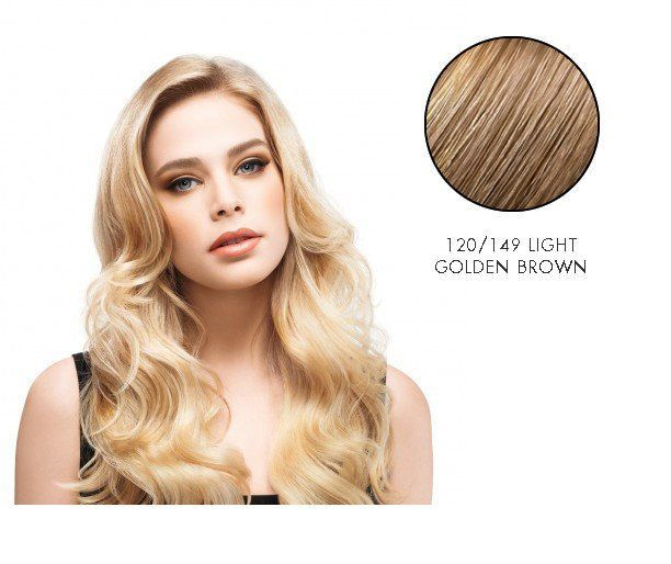 LuxHair HOW by Tabatha Coffey 16-18 Inch Circle Extension Light Golden Brown