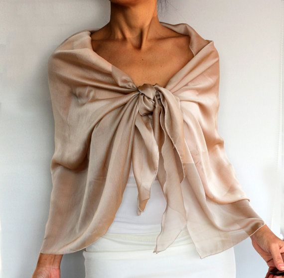 Chiffon Evening Shawl Scarf Shoulder Wrap Mauve by mammamiaeme