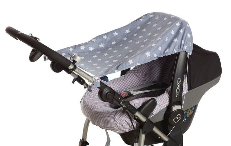 Sonnensegel - Kinderwagen Autositz Sonnen-Segel Sonnenschutz - ein Designerstück von Nestbauglueck bei DaWanda