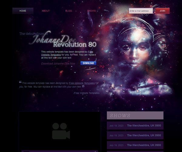 Music Artist Website Template