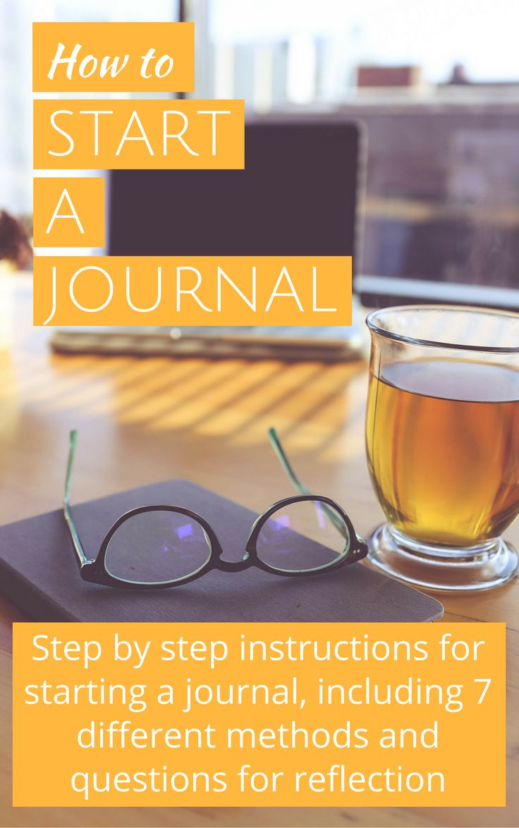 Step by step instructions for starting a journal, including 7 different methods and questions for reflection. Improve your self esteem, your self awareness and stop self sabotage