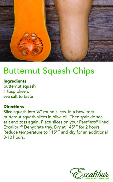 #Halloween Treat #Recipe 4 - Try sweet Butternut Squash Chips with Excalibur Dehydrators!