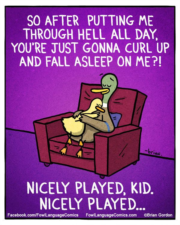 These comic strips hilariously sum up parenthood
