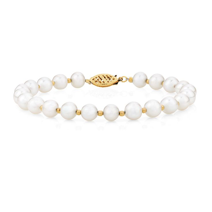 Bracelet with Cultured Freshwater Pearl in 10ct Yellow Gold - as a set with the earrings?