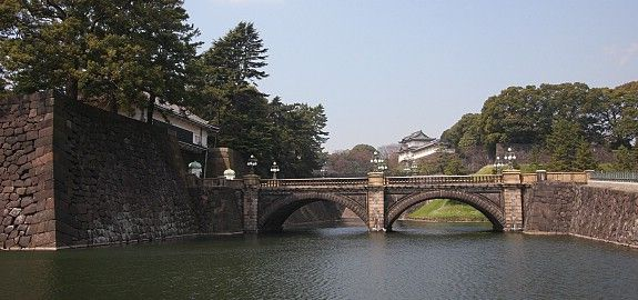 The current Imperial Palace (皇居, Kōkyo) is located on the former site of Edo Castle, a large park area surrounded by moats and massive stone walls in the center of Tokyo, a short walk from Tokyo Station. It is the residence of Japan's Imperial Family