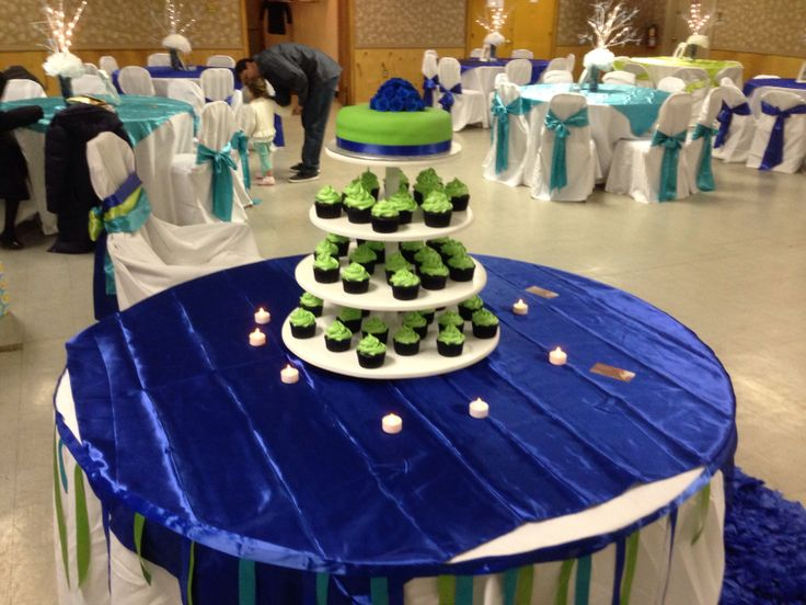 Baby Shower Cake Table, Cake And Cupcakes Tower