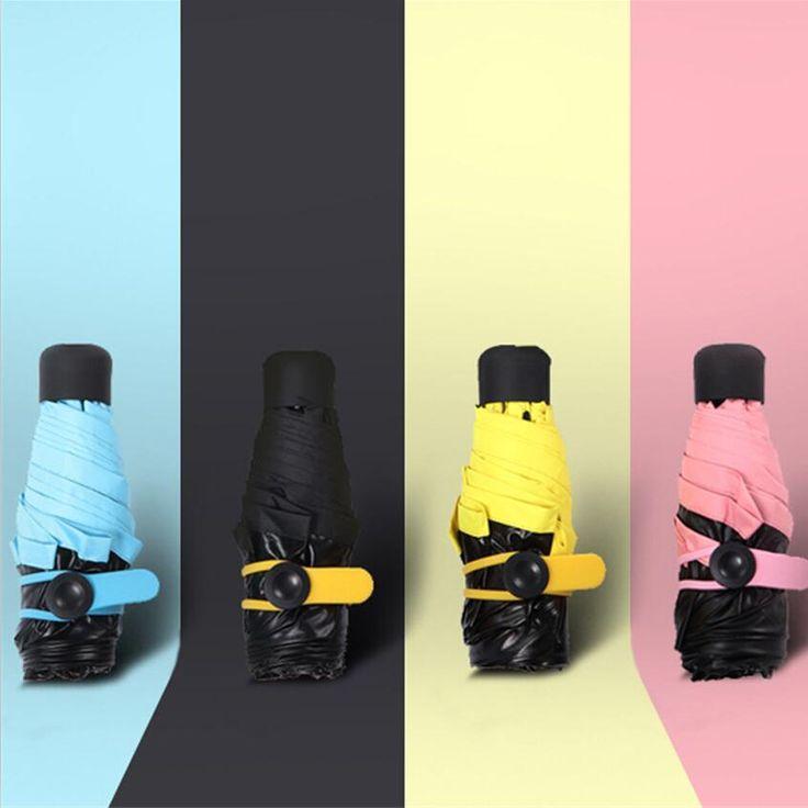 Качество Карманный Мини пять складной Зонтик Ясно мужской Зонт Ветрозащитный Складные Зонты Женщины Компактный Дождь Зонтик купить на AliExpress