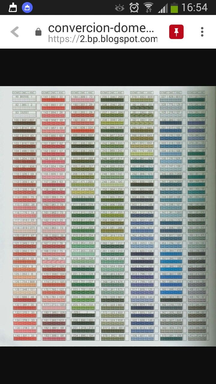 56 best DMC images on Pinterest | Crossstitch, Colour chart and Anchor