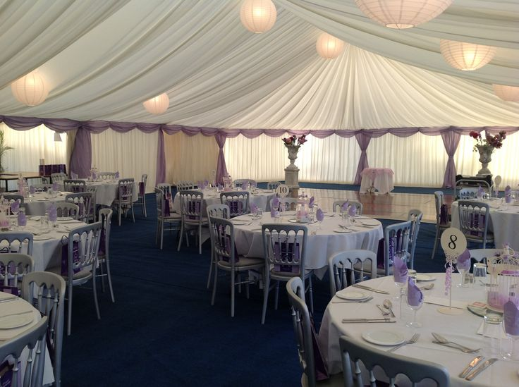 Stunning Lilac wedding marquee..