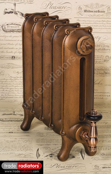 Sloane Cast iron Radiator finished in Antiqued Copper