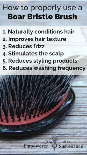 How to use a boar bristle brush for naturally healthy hair #hair #DIY #haircare