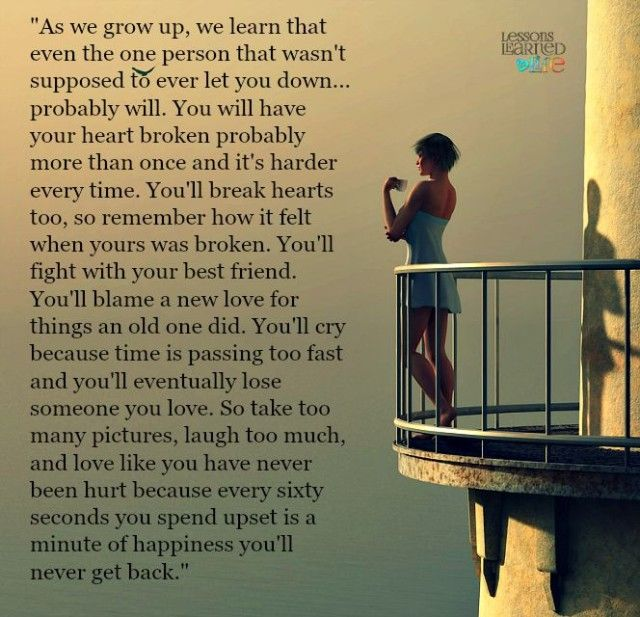 Lessons Learned in Life | As we grow up we learn.