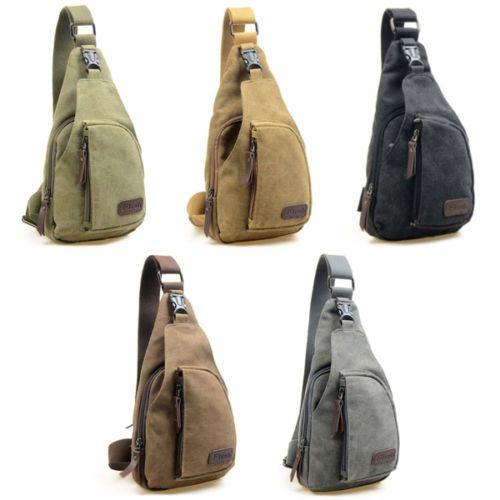 New Canvas Unbalance Backpack Women Men Shoulder Sling Chest Hiking Bicycle Bag   eBay