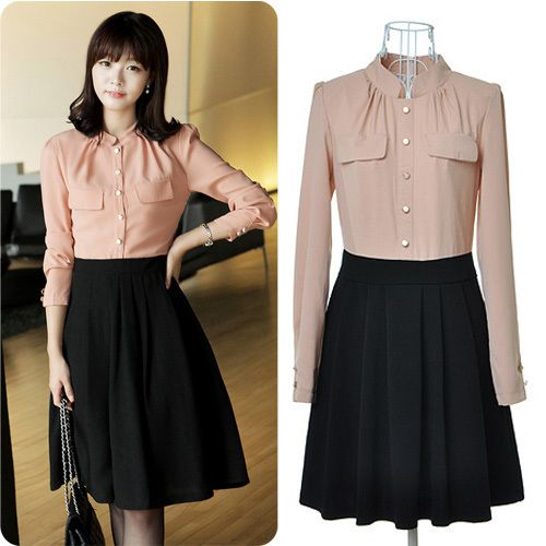 Beautiful Japan Korean Women Fashion Short Sleeve Dots Polka Mini Summer Chiffon