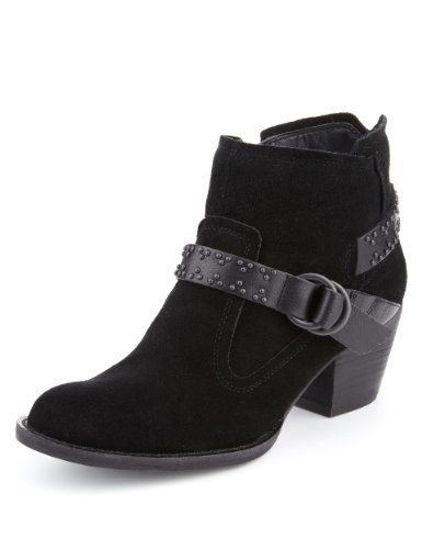 Indigo Collection Suede Studded Strap Ankle Boots with Insolia® - Marks & Spencer (My new boots!)