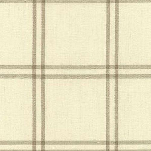 Schumacher LUBERON PLAID GREIGE Fabric
