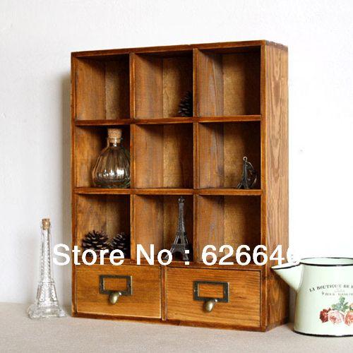 gratis verzending zakka vintage opbergdoos muur opslag display kast houten kasten kast diversen 11