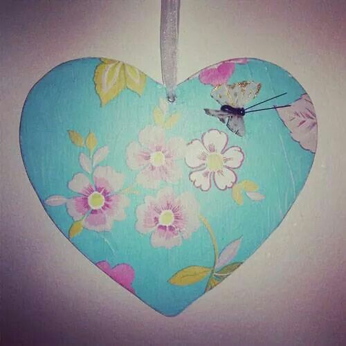 Butterflies with love. #heart (decoupage) - to order offthewallquirky@gmail.com