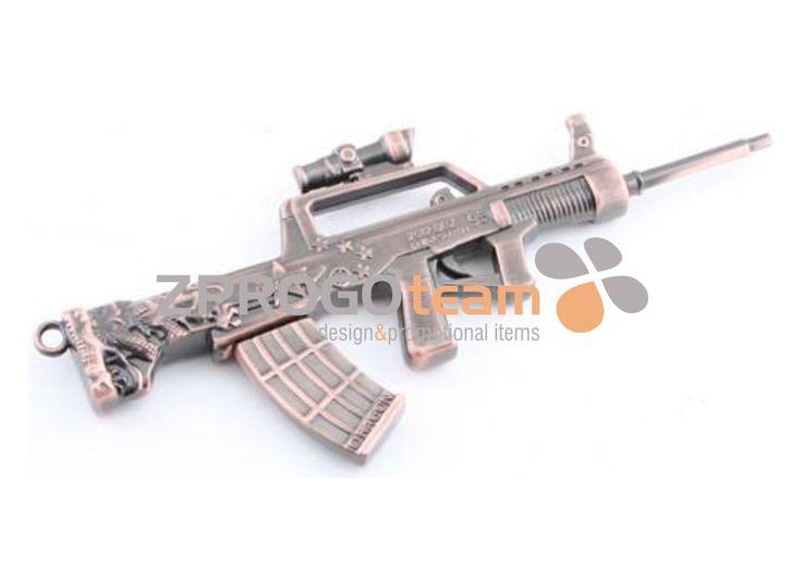 NEW: Promotional metal USB flash drive design submachine gun.