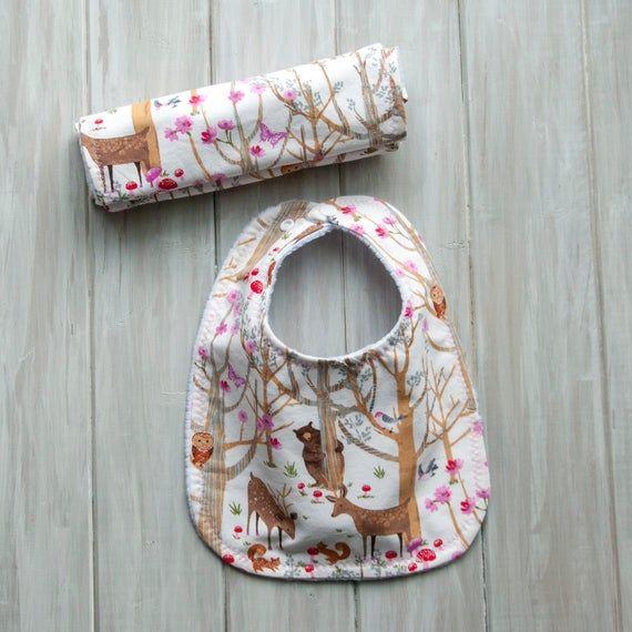 Handmade baby bibs set of 5