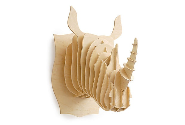 Wooden Rhinoceros Head. i love this but, $119?! can someone tell me how i can make it myself?