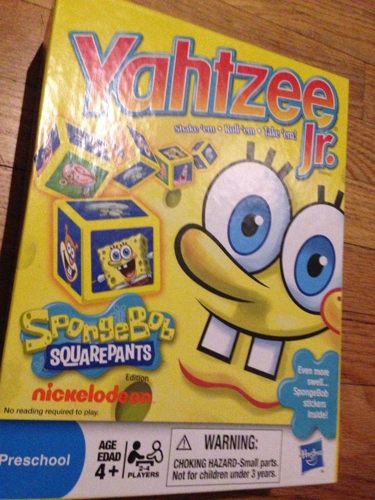Yahtzee Jr. SpongeBob SquarePants Edition Hasbro Classic Dice Game 2011 #Hasbro