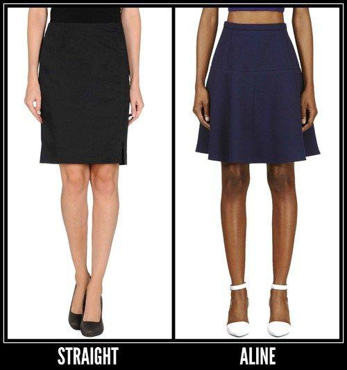 basic skirt shapes