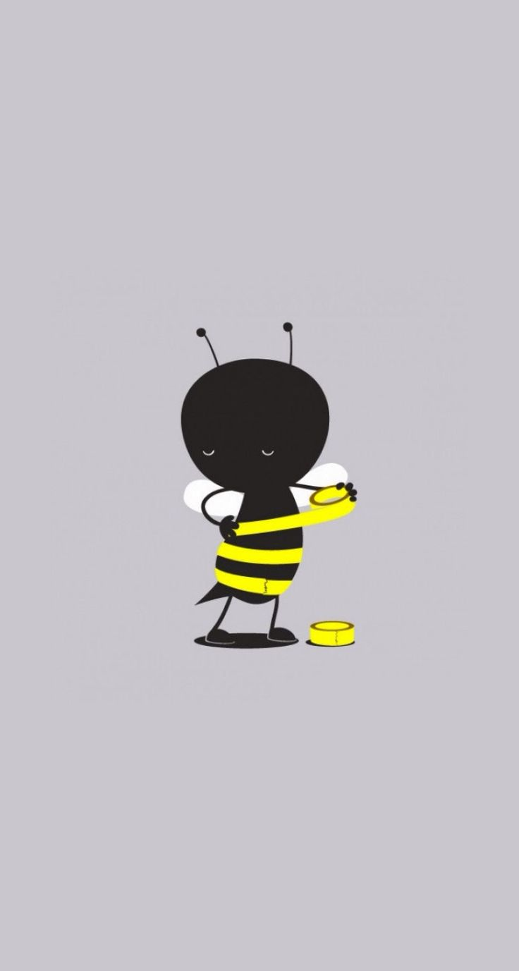 Self Made Bee with some yellow Duct tapes – Cute & funny iPhone wallpapers mobil…
