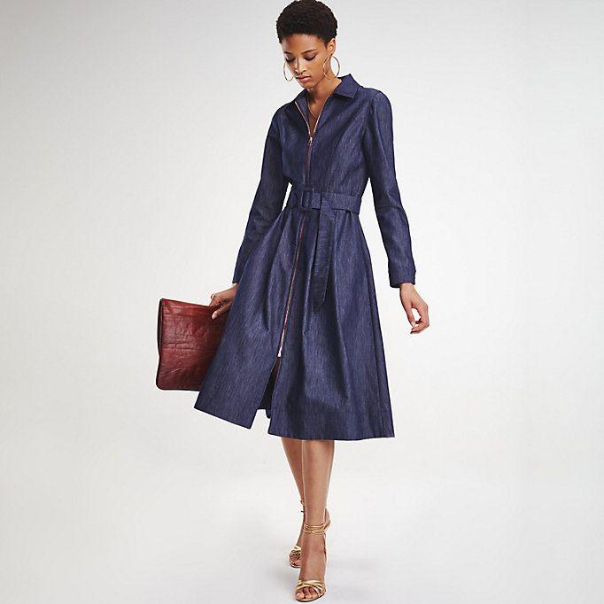 Zendaya Tailored Jeanskleid Tommy Hilfiger Jeanskleid Maxi Kleider Power Dressing