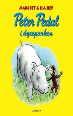 Køb 'Peter Pedal i dyreparken' bog nu. Peter Pedal og hans ven, manden med den gule hat, skal besøge en dyrepark, hvor de vilde dyr går frit omkring. Det er en