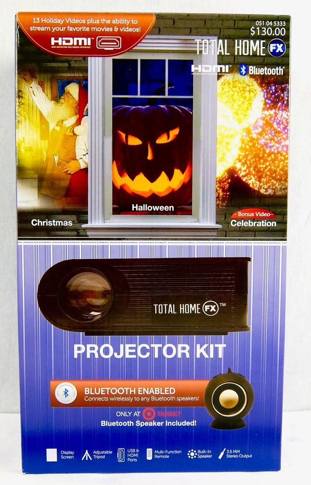 Total Home FX Animated LED Window Projector Kit Holiday Celebrations New #TotalHomeFX