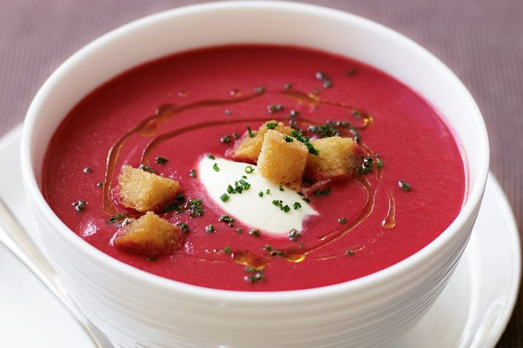 Everyone will love this spectacular beetroot soup, which offers a gourmet take on the traditional favourite.