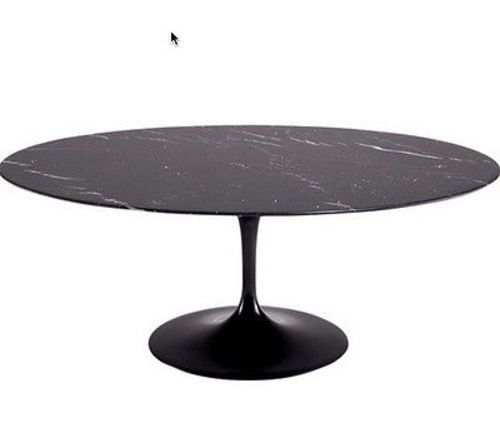 "Eero Saarinen Style Marble Tulip Table Oval 78"", Black https://emfurn.com/collections/industrial-chic"