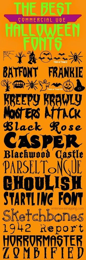 Got a Halloween project you're working on and need some great fonts? These 15 fonts are spooky and just waiting to add to your Halloween project. Fonts are commercial use friendly and include download links.