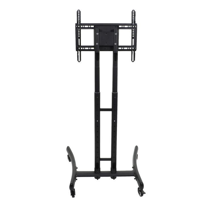 Move your TV with ease between trade shows, offices or classrooms with this versatile rolling TV stand from Luxor. The adjustable height function allows you to adapt to a specific viewing environment
