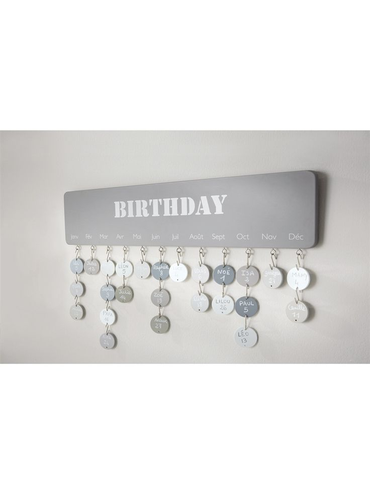 Geburtstagskalender aus lufttrocknendem Ton                                                                                                                                                                                 Mehr