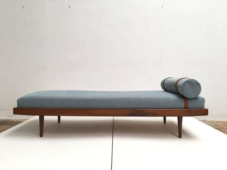 1960s Teak Scandinavian Daybed with New De Ploeg Steppe Wool Upholstery 4