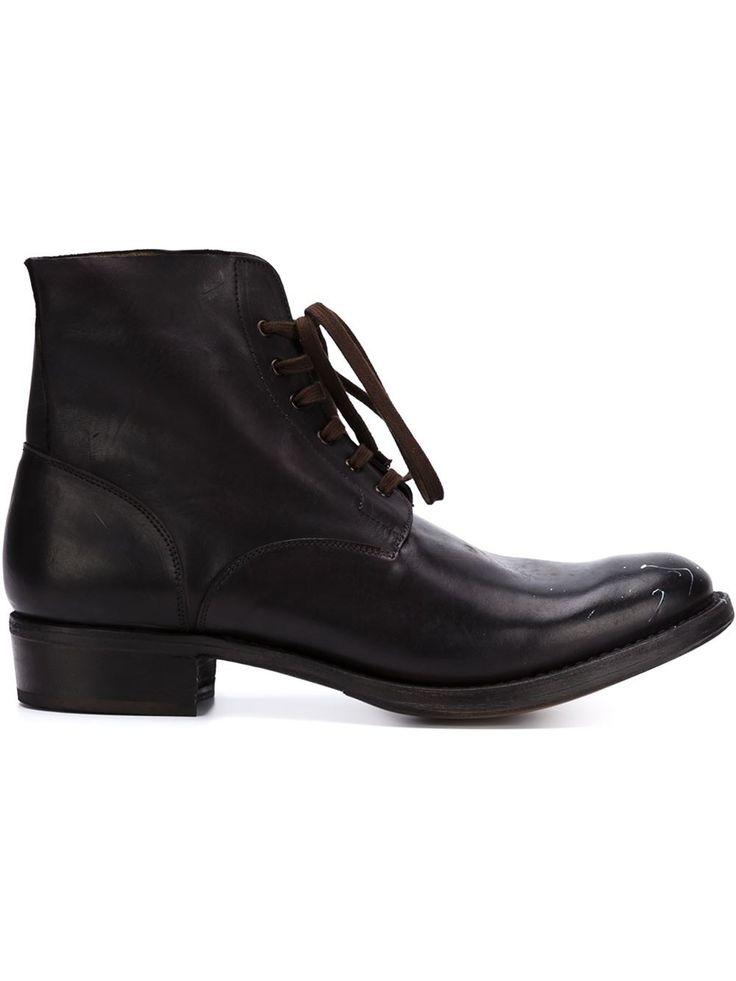 Cherevichkiotvichki | Black Lace-up Boots for Men