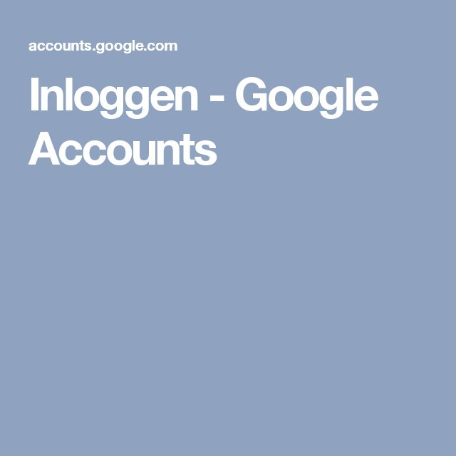 Inloggen - Google Accounts