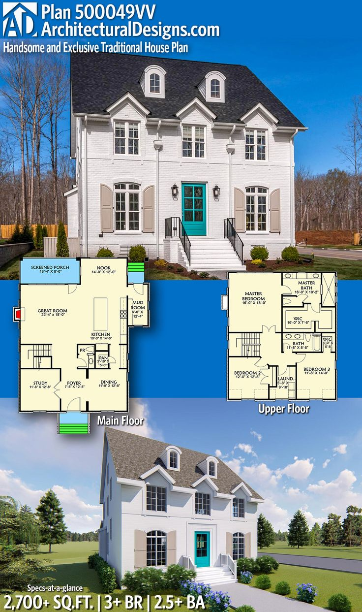 Architectural Designs Exclusive House Plan 500049VV